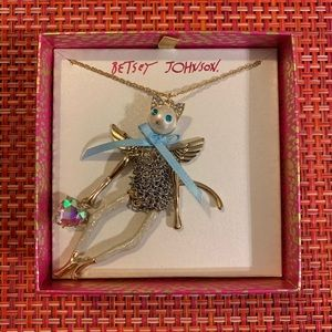 Betsy Johnson Cat Necklace